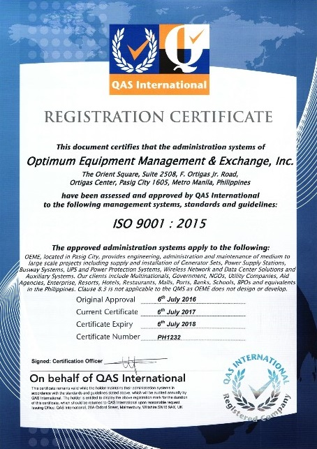 oeme iso certification